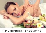 massage and body ody care. spa... | Shutterstock . vector #648860443