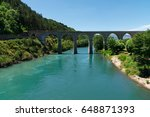 bridge reflected in water old...   Shutterstock . vector #648871393