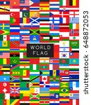 flags of the world   vector... | Shutterstock .eps vector #648872053