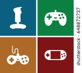 joystick icons set. set of 4... | Shutterstock .eps vector #648872737