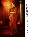 Small photo of Indian ethnic wear, 9 yard saree