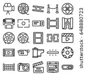 cinema icons set. set of 25... | Shutterstock .eps vector #648880723