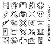 cross icons set. set of 25...   Shutterstock .eps vector #648880837