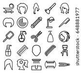 hair icons set. set of 25 hair... | Shutterstock .eps vector #648881977