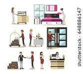 vector icons set of deluxe... | Shutterstock .eps vector #648886147