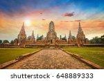 wat chaiwatthanaram temple in... | Shutterstock . vector #648889333