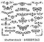 set of decorative elements.... | Shutterstock .eps vector #648889363