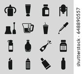 bottle icons set. set of 16... | Shutterstock .eps vector #648890557
