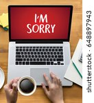 Small photo of SORRY Forgive Regret Oops Fail False Fault Mistake Regret Apologize Excuse Fault