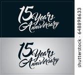 15 years anniversary...   Shutterstock .eps vector #648898633