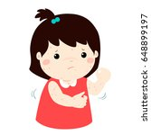 girl with health problem... | Shutterstock .eps vector #648899197