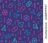 geometric seamless pattern...   Shutterstock .eps vector #648899947