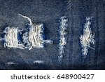 texture of blue jeans lack... | Shutterstock . vector #648900427
