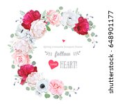 luxury floral vector round... | Shutterstock .eps vector #648901177