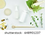 cosmetic bottle containers with ... | Shutterstock . vector #648901237
