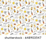 summer seamless background in... | Shutterstock .eps vector #648903547