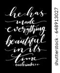 he has made everything... | Shutterstock .eps vector #648913027