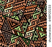 creative ethnic style square...   Shutterstock .eps vector #648920233