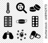 illness icons set. set of 9...   Shutterstock .eps vector #648942973