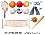 different equipments for... | Shutterstock .eps vector #648946147