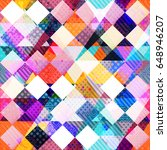 colored cloth seamless pattern  ... | Shutterstock .eps vector #648946207