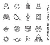 set of ramadan kareem icons... | Shutterstock .eps vector #648947917