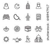 set of ramadan kareem icons... | Shutterstock .eps vector #648947917