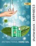cool mint flavor antibacterial... | Shutterstock .eps vector #648948013