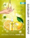 lemon flavor antibacterial hand ... | Shutterstock .eps vector #648948193