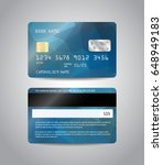 realistic detailed credit cards ... | Shutterstock .eps vector #648949183