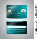 realistic detailed credit cards ... | Shutterstock .eps vector #648949387