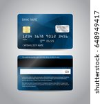 realistic detailed credit cards ... | Shutterstock .eps vector #648949417