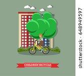 vector illustration of a kid... | Shutterstock .eps vector #648949597