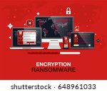 cybercrime and cyber security... | Shutterstock .eps vector #648961033
