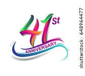 41st anniversary celebration... | Shutterstock .eps vector #648964477