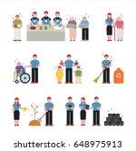 volunteering to help neighbors... | Shutterstock .eps vector #648975913