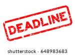 grunge red deadline square... | Shutterstock .eps vector #648983683