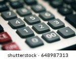 number botton calculator | Shutterstock . vector #648987313