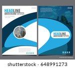 abstract vector modern flyers... | Shutterstock .eps vector #648991273