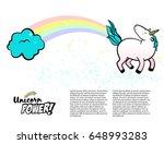 magic unicorn vector... | Shutterstock .eps vector #648993283