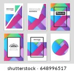 abstract vector layout... | Shutterstock .eps vector #648996517