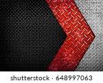 diamond plate with arrow design ... | Shutterstock . vector #648997063