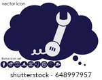 phone wrench icon vector...