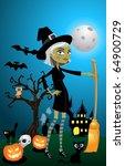 halloween night | Shutterstock . vector #64900729