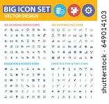 big icon set clean vector | Shutterstock .eps vector #649014103