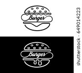 set of badges sandwich.logo... | Shutterstock .eps vector #649014223