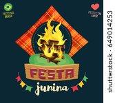festa junina  brazilian june... | Shutterstock .eps vector #649014253