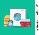 laundry room service vector... | Shutterstock .eps vector #649016323