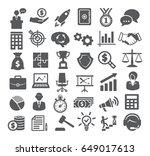 business icons set. management  ... | Shutterstock .eps vector #649017613
