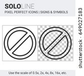 pixel perfect solo line no sign ... | Shutterstock .eps vector #649027183